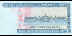 Myanmar - p85 - 1 000 Kyats - ND (2019) - Central Bank of Myanmar