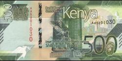 Kenya - pNew - 500 shilingi - 2019 - Banki Kuu ya Kenya / Central Bank of Kenya