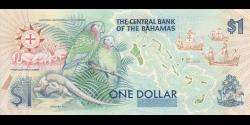 Bahamas - p50 - 1 Dollar - 1992 - Central Bank of the Bahamas