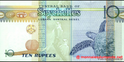 Seychelles - p36a - 10 Roupies - ND (1998 - 2008) - Central Bank of Seychelles / Labank Santral Sesel