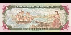 Nicaragua - p180 - 5 Córdobas - 1995 - Banco Central de Nicaragua
