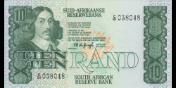 Afrique du Sud - p120a - 10 rand - ND (1978 ) - Suid - Afrikaanse Reserwebank / South African Reserve B