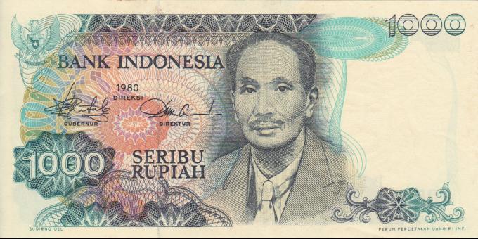 Indonésie - p119 - 1.000 Roupies - 1980 - Bank Indonesia