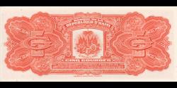 Haïti - p232b - 5 Gourdes - L.1979 - Banque de la République d'Haïti