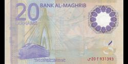 Maroc - pnew - 20 Dirhams - 2019 - Bank Al - Maghrib