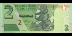 Zimbabwe - p101 - 2 Dollars - 2019 - Reserve Bank of Zimbabwe