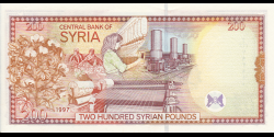 Syrie - p109 - 200 Syrian Pounds - 1997 - Central Bank of Syria