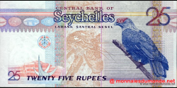 Seychelles - p37b - 25 Roupies - ND (1998 - 2008) - Central Bank of Seychelles / Labank Santral Sesel