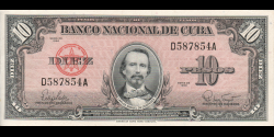 Cuba - p079b - 10Pesos - 1960 - Banco Nacional de Cuba
