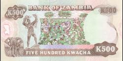 Zambie - p35 - 500 Kwacha - ND (1991) - Bank of Zambia