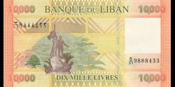 Liban - p92a - 10.000Livres - 2012 - Banque du Liban