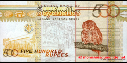 Seychelles - p41 - 500 Roupies - ND (2005) - Central Bank of Seychelles / Labank Santral Sesel