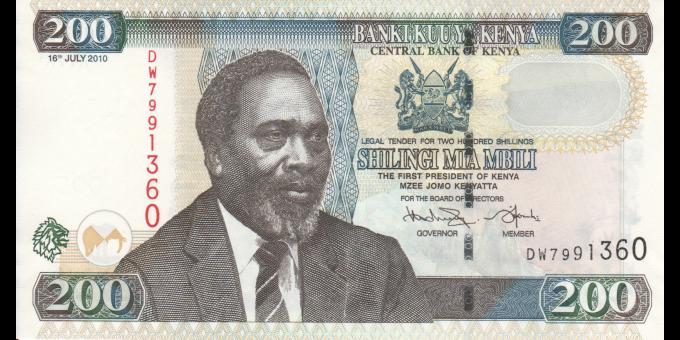 Kenya - p49e - 200 shilingi - 16.7.2010 - Banki Kuu ya Kenya / Central Bank of Kenya