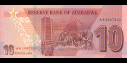 Zimbabwe - p103a - 10 Dollars - 2020 - Reserve Bank of Zimbabwe