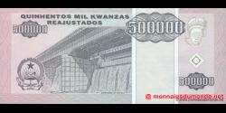angola - p140 - 500 000 kwanzas Reajustados - 01.05.1995 - Banco Nacional de Angola
