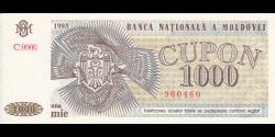 Moldavie - p03 - 1 000 cupon - 1993 - Banca Naţională a Moldovei