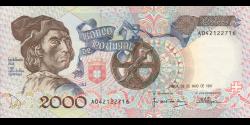 Portugal - p186a2 - 2000 Escudos - 23.05.1991 - Banco de Portugal