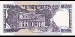 Uruguay - p64Ab - 1 000 Nuevos Pesos - ND (1992) - Banco Central del Uruguay