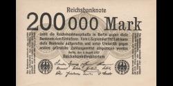 Allemagne - p100b - 200.000Mark - 9.08.1923 - Reichsbank