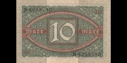 Allemagne - p067a - 10Mark - 6.02.1920 - Reichsbank