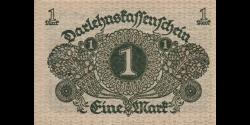 Allemagne - p058 - 1Mark - 01.03.1920 - Reichsschuldenverwaltung