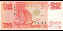 Singapour - p27 - 2 Dollars - ND (1990) - Board of Commissioners of Currency