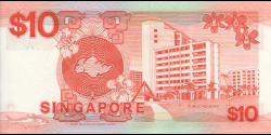 Singapour - p20 - 10 Dollars - ND (1988) - Board of Commissioners of Currency