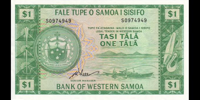 Samoa - p16dCS - 1 tala - ND (1967-2020) - Faletupe Tutotonu o Samoa / Central Bank of Samoa