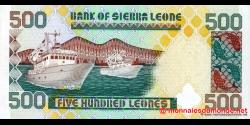 Sierra - Leone - p23b - 500 Leones - 15.07.1998 - Bank of Sierra Leone