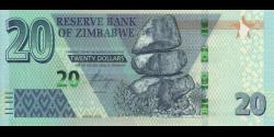 Zimbabwe - p104a - 20 Dollars - 2020 - Reserve Bank of Zimbabwe