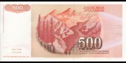 Yougoslavie - p109 - 500 Dinara / Dinarjev / Dinari - 1991 - Narodna Banka Jugoslavije / Narodna Banka na Jugoslavija