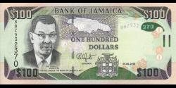 Jamaïque - p95c - 100 Dollars - 01.06.2016