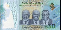 Namibie - p18 - 30 dollars - 2020 - Bank of Namibia
