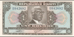 Haïti - p230 - 1 Gourde - L.1979 - Banque de la République d'Haïti