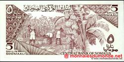 Somalie - p31c - 5 Shilin Soomaali - 1987 - Bankiga Dhexe ee Soomaaliya / Central Bank of Somalia