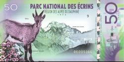 Parc National des Ecrins- pNL01 - 50 francs - 2018