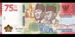 Indonésie - p161 - 75.000Roupies - 2020 - Bank Indonesia