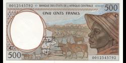 Congo - RP - p101Cgb - 500 francs - 2000 - Banque des États de l'Afrique Centrale