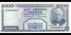 Islande - p46a10 - 1000Krónur - L. 29.03.1961 - Seðlabanki Íslands