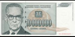 Yougoslavie - p122 - 10.000.000 Dinara - 1993 - Narodna Banka Jugoslavije