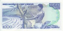 São Tomé-et-Príncipe - p62 - 1.000 Dobras - 04.01.1989 - Banco Nacional de S. Tomé e Príncipe