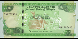 Éthiopie - p53a - 10 birr - 2020 - National Bank of Ethiopia