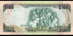 Jamaïque - p90 - 100 Dollars - 06.08.2012 - Bank of Jamaica