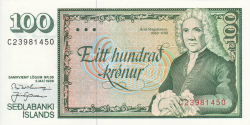 Islande - p50a13 - 100Krónur - L. 5.5.1986 - Seðlabanki Íslands