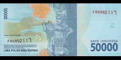 Indonésie - p159a - 50.000Roupies - 2016 - Bank Indonesia