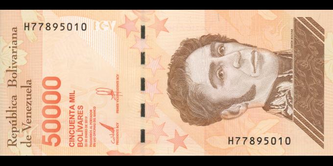 Venezuela - p111b - 50.000 Bolívares soberano - 22.01.2019 - Banco Central de Venezuela