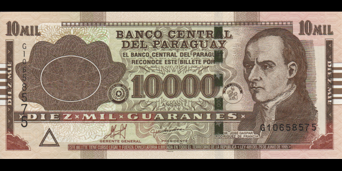 Paraguay - p224e - 10.000 Guaranies - 2011 - Banco Central Del Paraguay