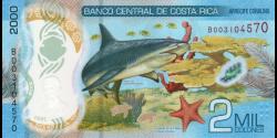 Costa - Rica - p280a - 2.000 Colones - 2018 - Banco Central de Costa Rica