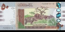 Soudan - p75c - 50 Pounds - 2015 - Central Bank of Sudan