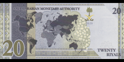 Arabie Saoudite - p44 - 20 Riyals - 2020 - Saudi Arabian Monetary Authority
